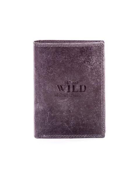Czarny portfel ze skóry naturalnej                               zdj.                              1