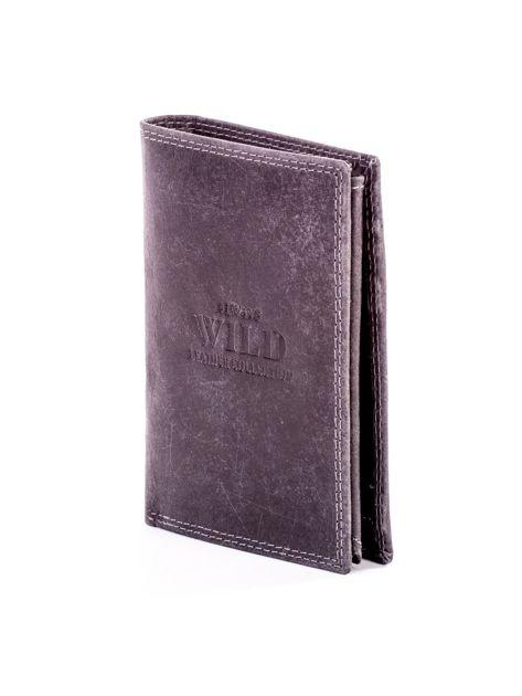 Czarny portfel ze skóry naturalnej                               zdj.                              3