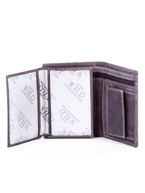 Czarny portfel ze skóry naturalnej                               zdj.                              5