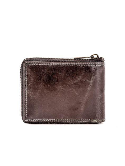 Czarny portfel ze skóry naturalnej z cieniowaniami                              zdj.                              2