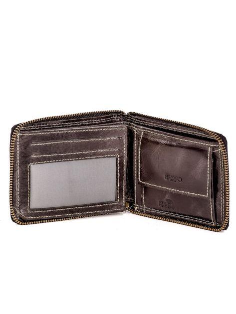 Czarny portfel ze skóry naturalnej z cieniowaniami                              zdj.                              4