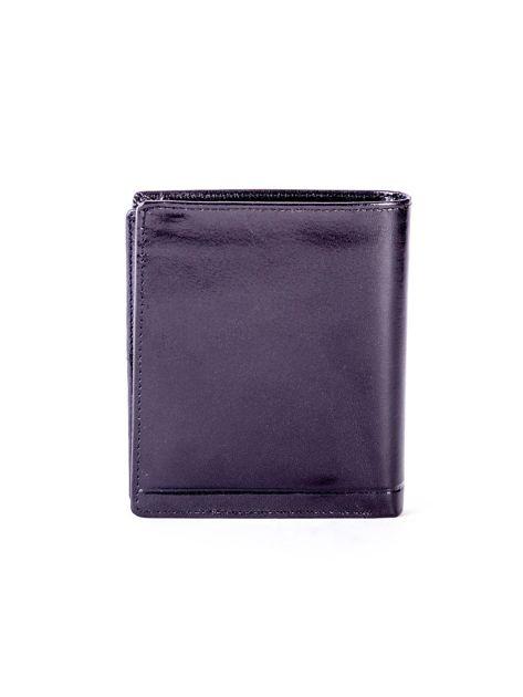 Czarny portfel ze skóry naturalnej z tłoczeniem                              zdj.                              2