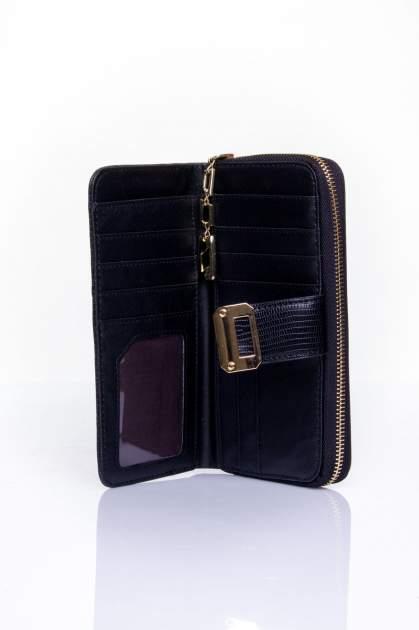 Czarny portfel ze złotą klamerką                                  zdj.                                  4