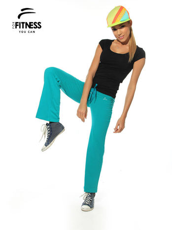 Czarny prosty t-shirt For Fitness                                  zdj.                                  3