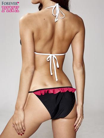 Czarny retro stanik od bikini w groszki                                  zdj.                                  2