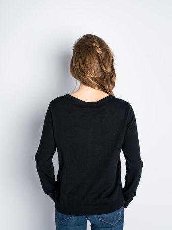 Czarny rozpinany sweter z bawełny                                  zdj.                                  3