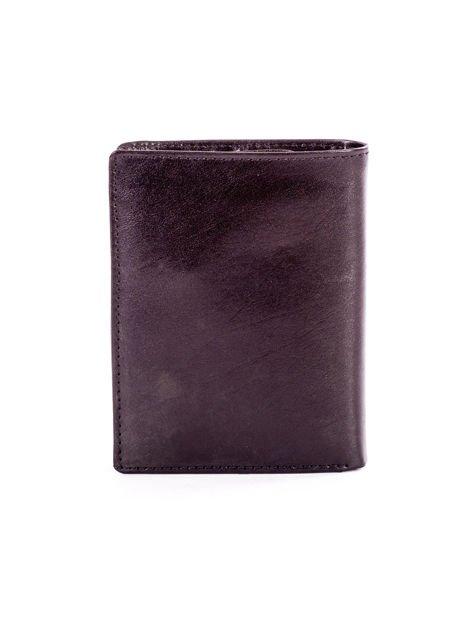 Czarny skórzany portfel dla mężczyzny z tłoczeniem                              zdj.                              2