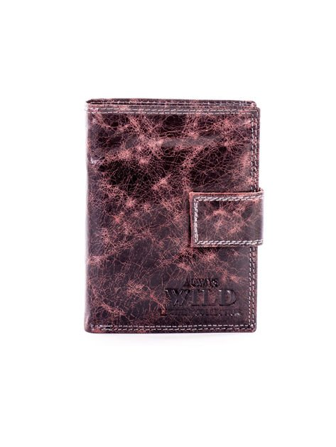 Czarny skórzany portfel dla mężczyzny z zapięciem