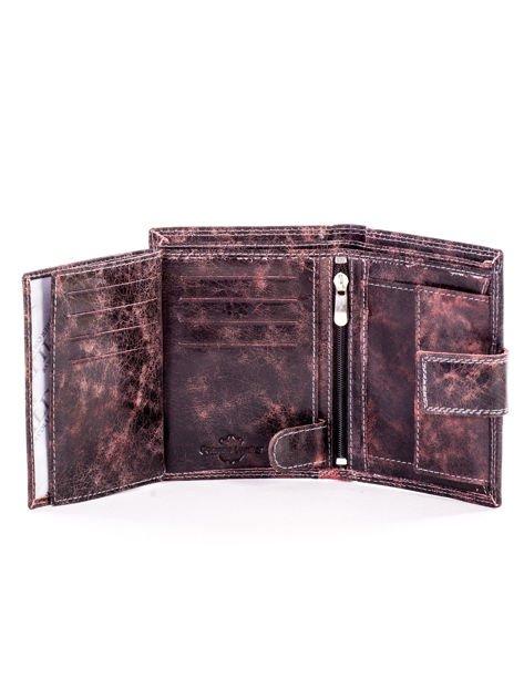 Czarny skórzany portfel dla mężczyzny z zapięciem                              zdj.                              6