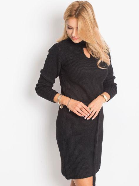 Czarny sukienka Malta                              zdj.                              3