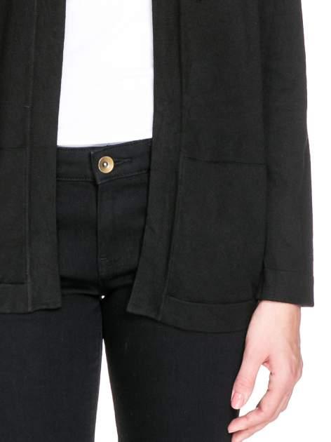 Czarny sweter kardigan z bocznymi kieszeniami                                  zdj.                                  6