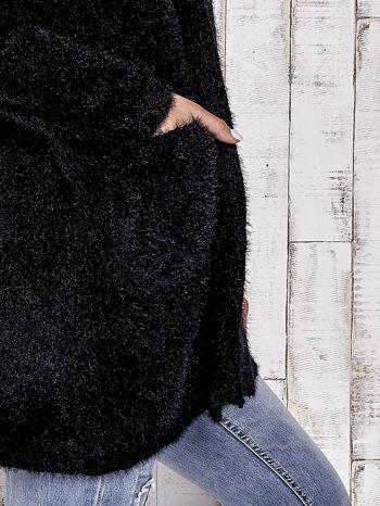Czarny sweter oversize z kieszeniami                                  zdj.                                  5