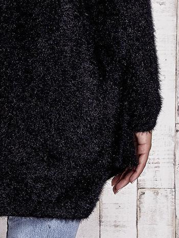 Czarny sweter oversize z kieszeniami                                  zdj.                                  7