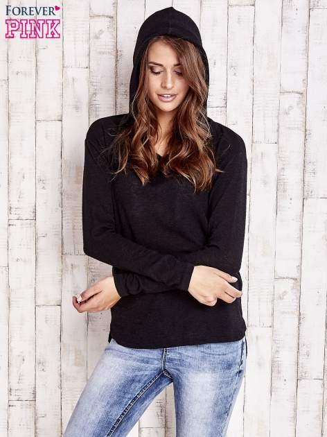 Czarny sweter z kapturem                                  zdj.                                  6