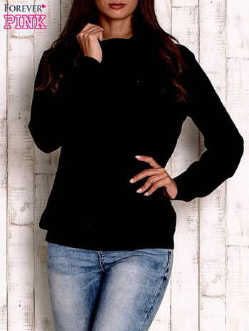 Czarny sweter z szerokim golfem                                  zdj.                                  1