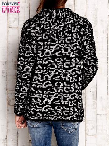 Czarny sweter zapinany na suwak                                  zdj.                                  4