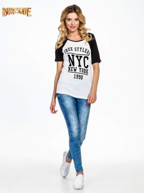 Czarny t-shirt NEW YORK 1990  w stylu collage                                  zdj.                                  6