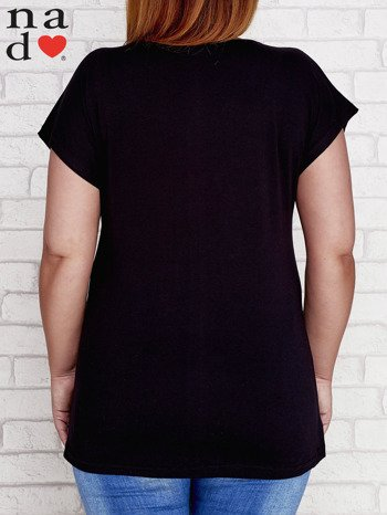 Czarny t-shirt basic PLUS SIZE
