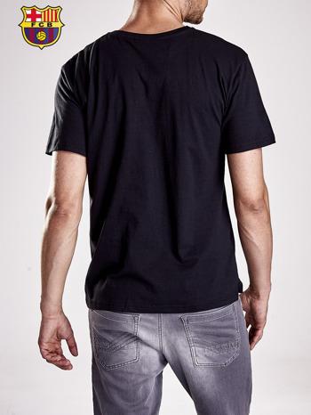 Czarny t-shirt męski FC BARCELONA                                  zdj.                                  3