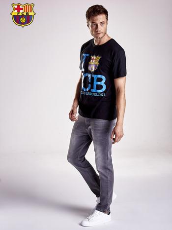 Czarny t-shirt męski FC BARCELONA                                  zdj.                                  5