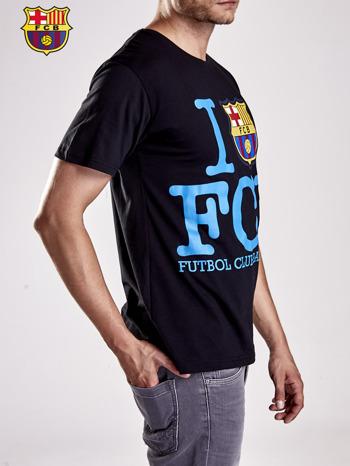 Czarny t-shirt męski FC BARCELONA                                  zdj.                                  4