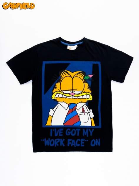 Czarny t-shirt męski GARFIELD                                  zdj.                                  8