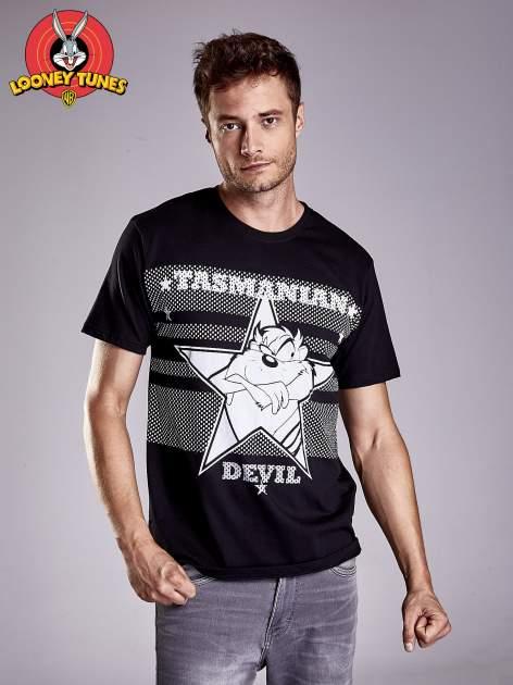 Czarny t-shirt męski LOONEY TUNES                                  zdj.                                  2