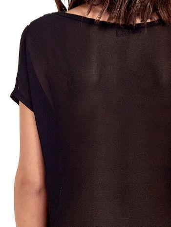 Czarny t-shirt z kryształkami                                  zdj.                                  6