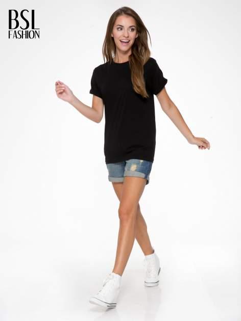 Czarny t-shirt z nadrukiem numerycznym AZZEDINE 40 z tyłu                                  zdj.                                  6