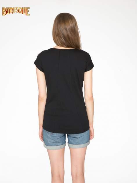 Czarny t-shirt z napisem 1989                                  zdj.                                  4