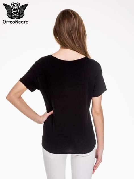 Czarny t-shirt z napisem BKLN WILLAMSBURG                                  zdj.                                  4