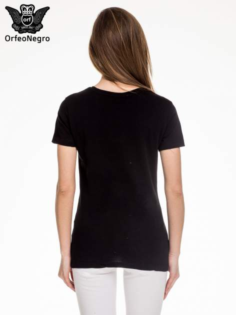 Czarny t-shirt z napisem LONDON                                  zdj.                                  4