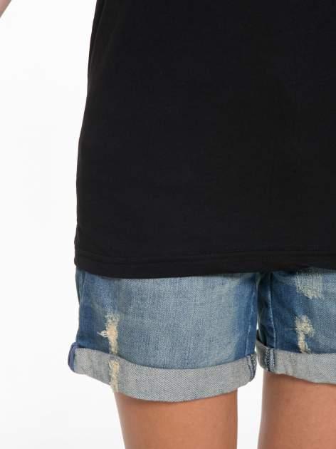 Czarny t-shirt z napisem MARGIELA 47 na plecach                                  zdj.                                  9