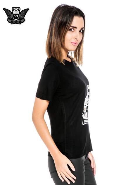 Czarny t-shirt z napisem WARRIORS ROLLER SKATERS                                  zdj.                                  3