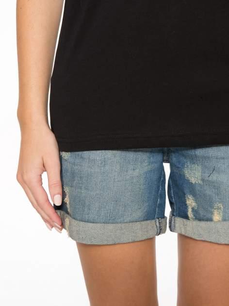 Czarny t-shirt ze złotym nadrukiem NO. 4 COCO                                  zdj.                                  7