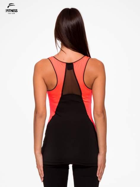 Czarny termoaktywny top sportowy z siateczką z tyłu i fluoróżowymi wstawkami ♦ Performance RUN                                  zdj.                                  4