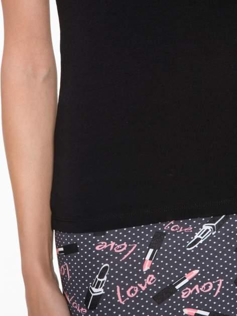 Czarny top z krzyżowanym dekoltem na plecach                                  zdj.                                  8