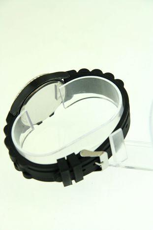 Czarny zegarek damski na silikonowym pasku                                  zdj.                                  3