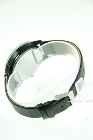 Czarny zegarek damski z cyrkoniami na skórzanym pasku                                  zdj.                                  5