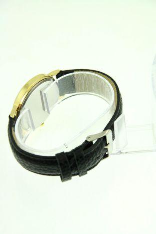 Czarny zegarek damski z sową na skórzanym pasku                                  zdj.                                  3