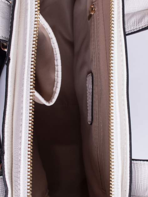 Czaro-biała torba two tone z odpinanym paskiem                                  zdj.                                  4