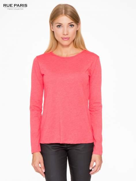 Czerwona basicowa bluzka z długim rękawem                                  zdj.                                  1
