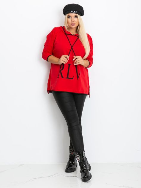 Czerwona bluza plus size Skip                              zdj.                              4