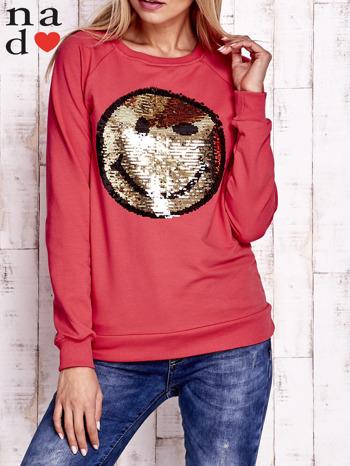 Czerwona bluza z dwustronną naszywką z cekinów                                  zdj.                                  5