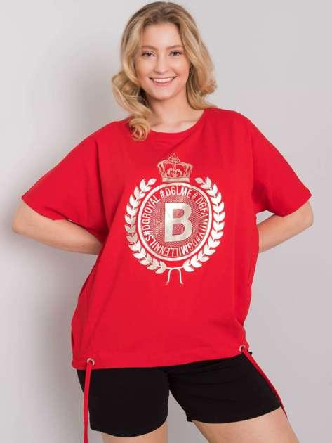 Czerwona bluzka plus size Ruthie