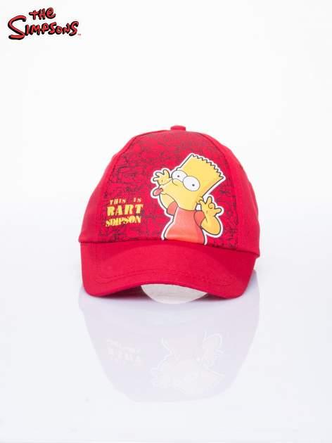Czerwona chłopięca czapka z daszkiem SIMPSONOWIE                                  zdj.                                  1