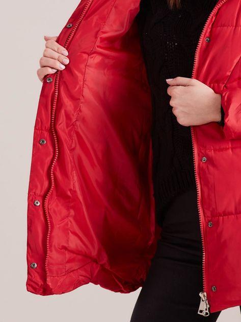 Czerwona damska kurtka zimowa                              zdj.                              8