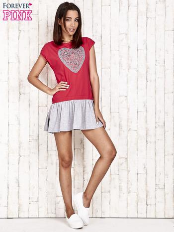 Czerwona dresowa sukienka tenisowa z sercem                                  zdj.                                  4