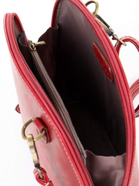 Czerwona elegancka listonoszka z odpinanaym paskiem                                  zdj.                                  9