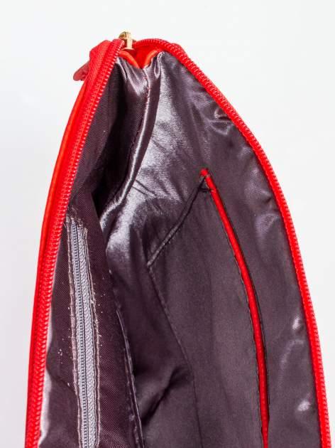 Czerwona kopertówka z dżetami motyw czaszki                                  zdj.                                  8